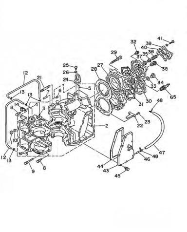48 & 55 pk (2-takt) Blok Onderdelen