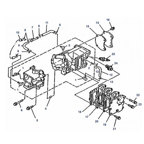 4A Mariner Motorblok Onderdelen (2-takt)