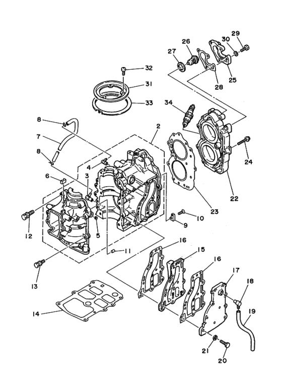 9.9D MHS/L & 15D WHS/L (1988 t/m 1990 & 1993) Blok Onderdelen