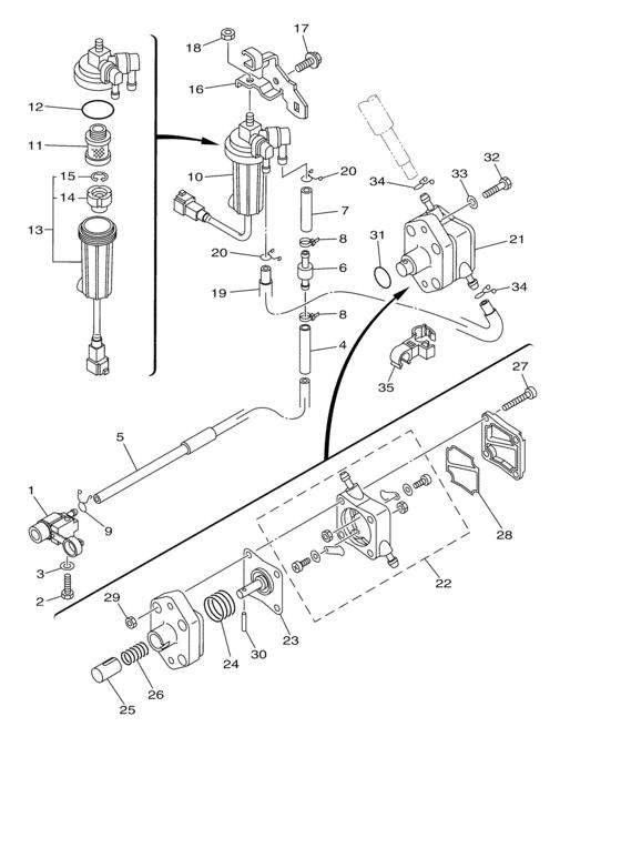 F30 & F40 (4-takt) Brandstof Onderdelen