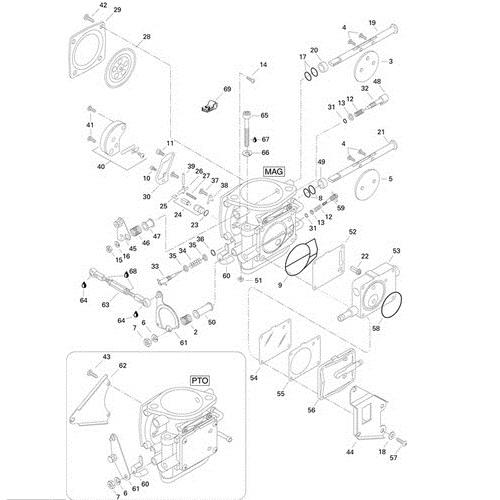 Carburateur Onderdelen (PTO) - XP 1996