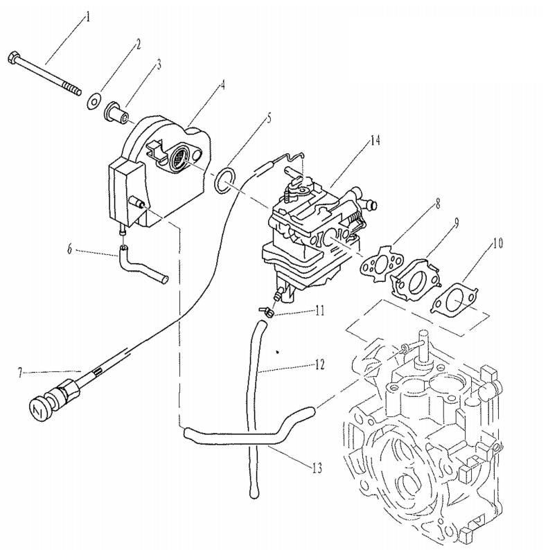 F2.6 - Luchtfilter & Carburateur Onderdelen