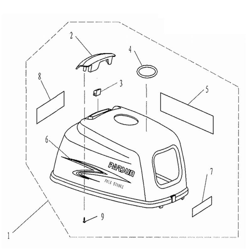 F2.6 - Motorkap Onderdelen