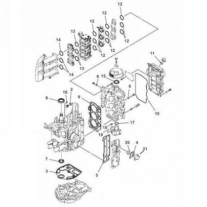 F30 & F40 (4-takt) Blok Onderdelen