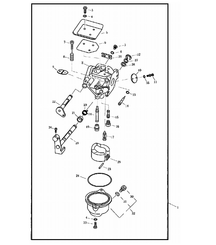 F4 & F5 - Carburateur Onderdelen