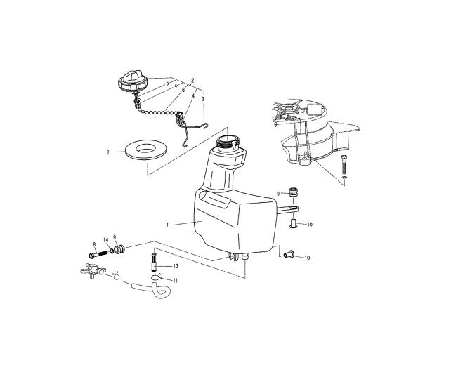 F4 & F5 - Interne Brandstoftank Onderdelen