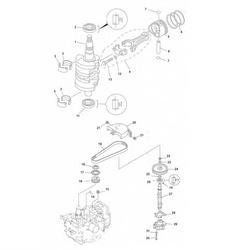 F9.9 F13.5 & F15 (4-takt) Krukas Onderdelen