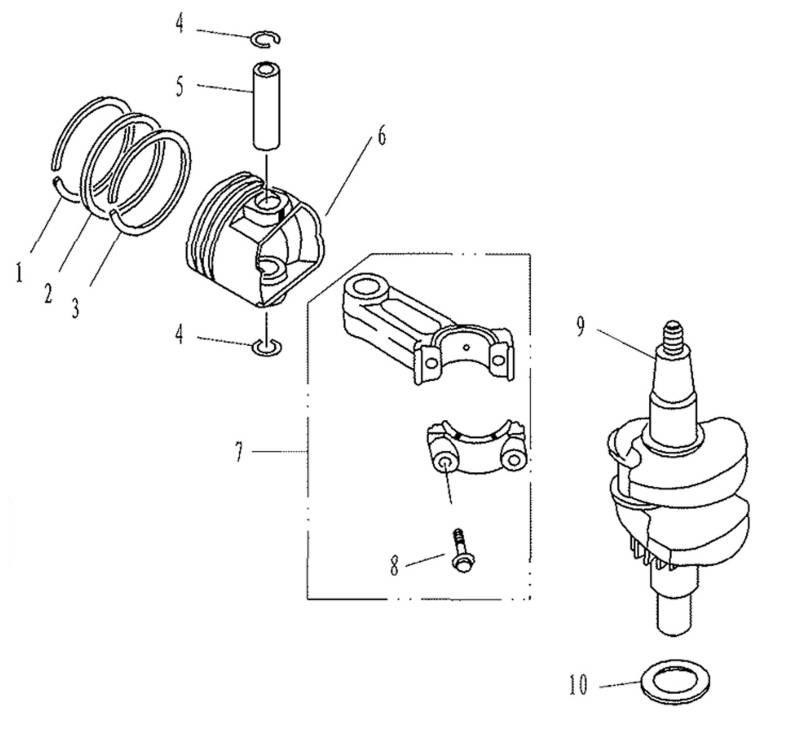 F2.6 - Krukas & Zuiger Onderdelen