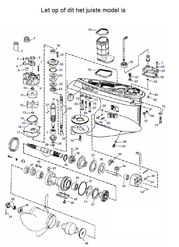 V4 & V6 Johnson (2002-2006) Staartstuk Onderdelen