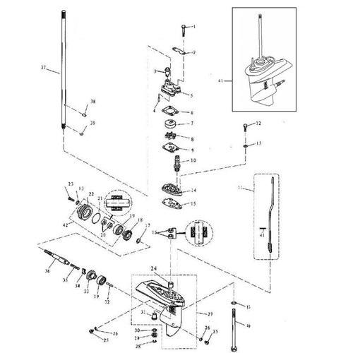 F4 & F5 Parsun Staartstuk Onderdelen