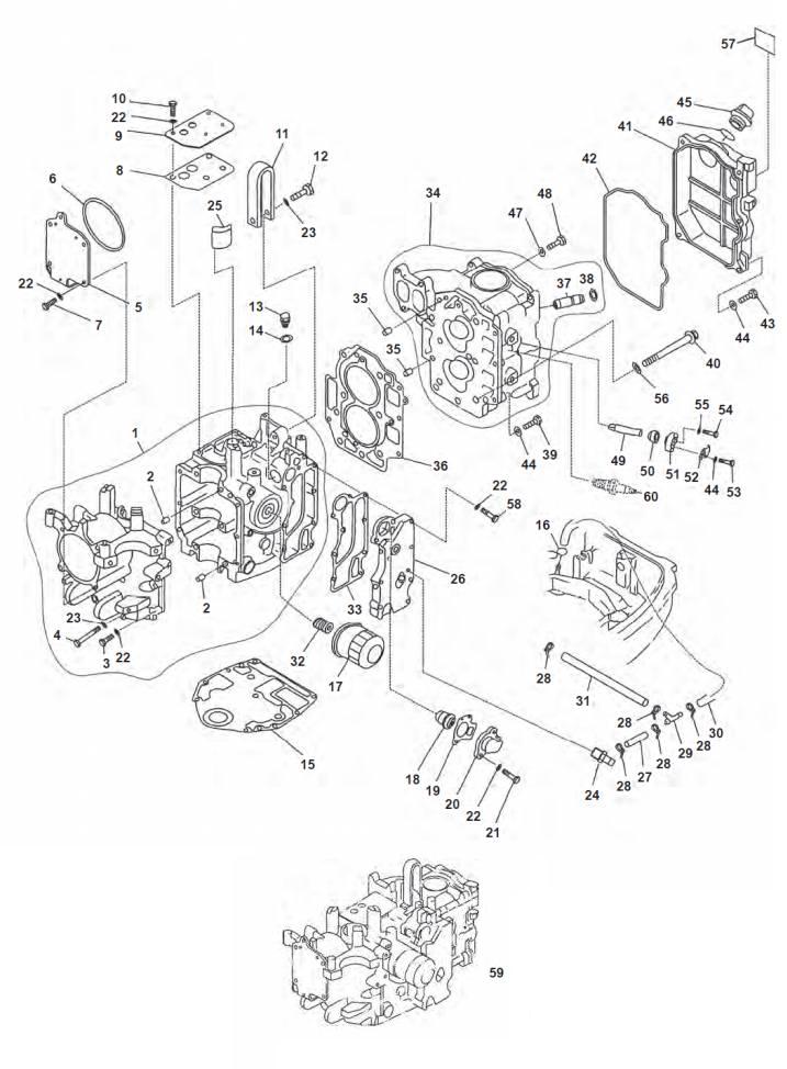 F20 & F25 (4-takt) Blok Onderdelen (1998-2008)