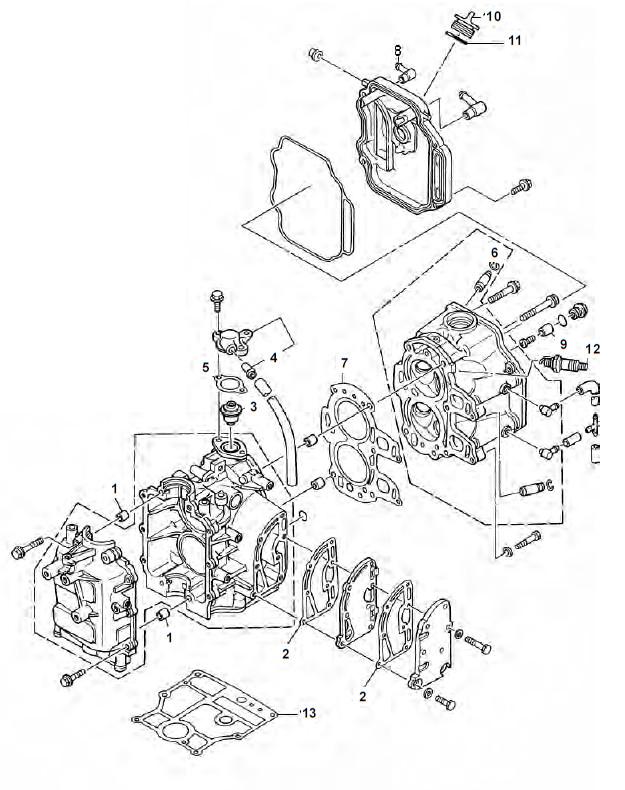 F8 & F9.9 (4-takt) Blok Onderdelen (1985-1999)