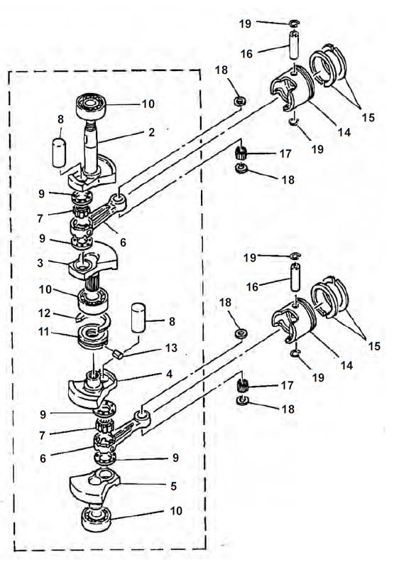 E8D / MH Krukas Onderdelen