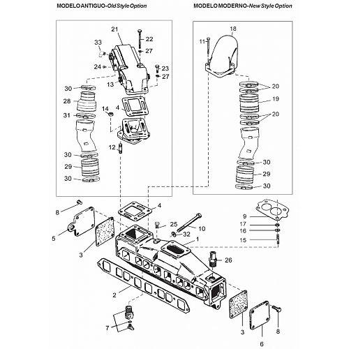 Mercruiser (4 cil.) - 2.5L GM153 & 3.0L GM181 (1983-1989)