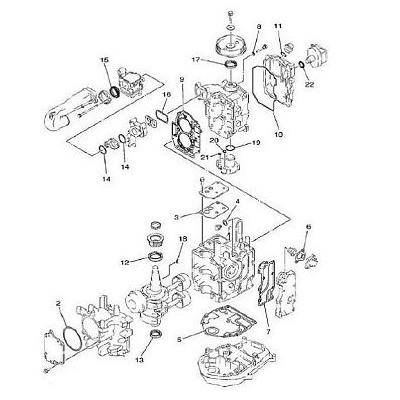 F20 & F25 (4-takt) Motorblok Onderdelen (1998-2008)