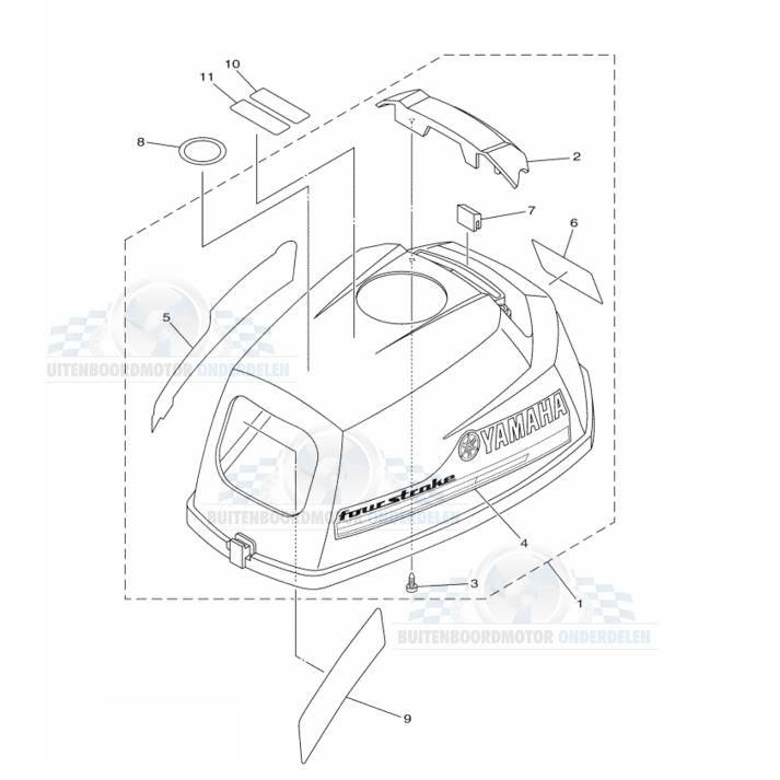 Motorkap Onderdelen - F2.5 AMHL 2013