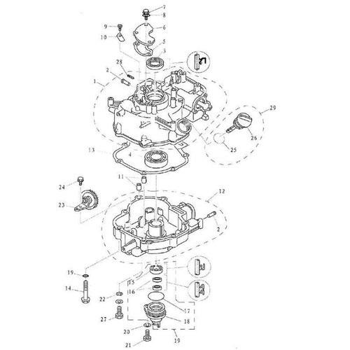 F4 & F5 - Cilinder & Carter Onderdelen (2)