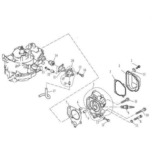 F4 & F5 - Cilinder, Carter & Thermostaat Onderdelen (1)