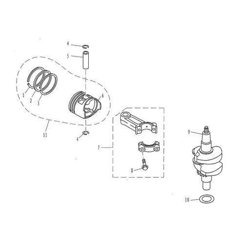 F4 & F5 - Krukas & Zuiger Onderdelen