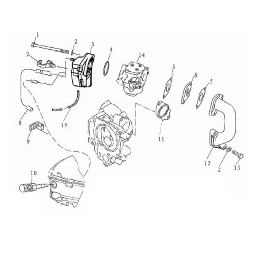 F4 & F5 - Luchtfilter & Carburateur Onderdelen