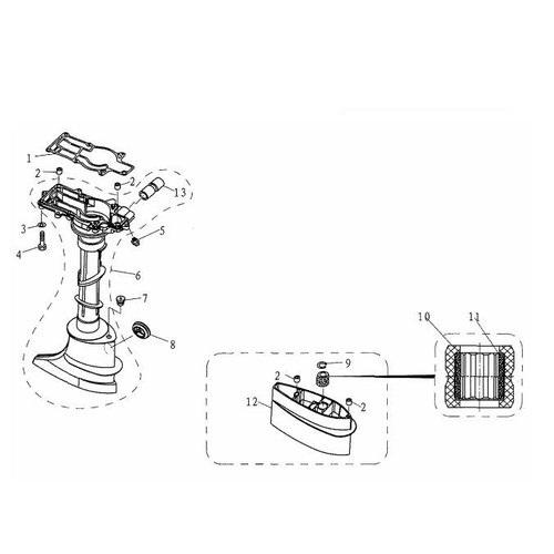F4 & F5 - Bovendeel Staartstuk Onderdelen