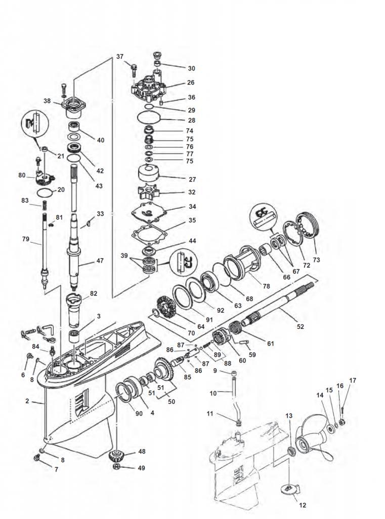 150F & 200F V6 (1984 +) Yamaha