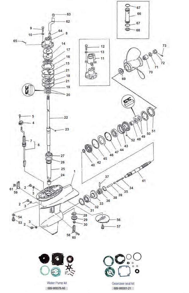 20C/CM-25D/DE-C25-30A/C Staartstuk Onderdelen