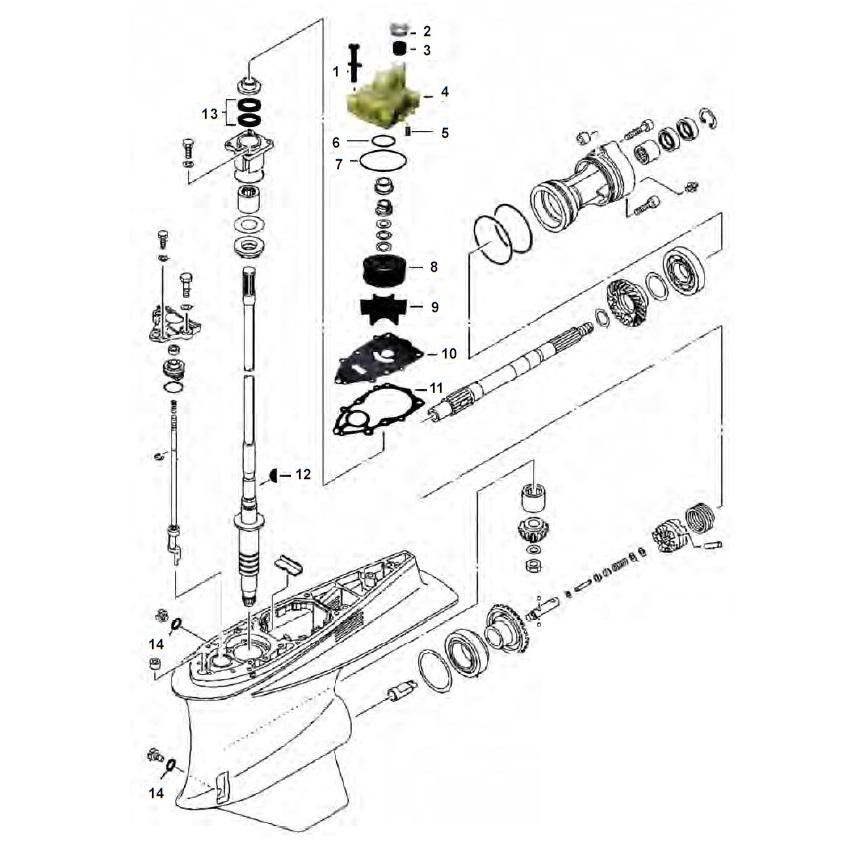 VZ200 - VZ225 - VZ250 & VZ300 Staartstuk Onderdelen