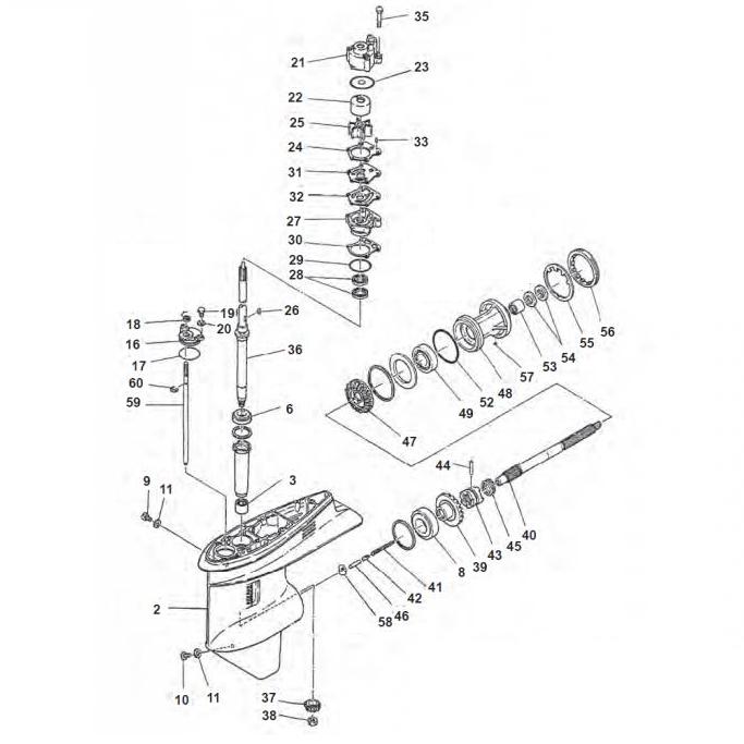 75A & 85A (2-takt) Staartstuk Onderdelen