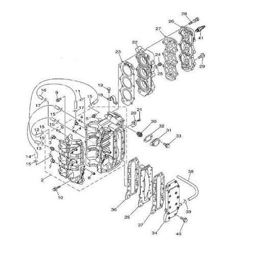 25Q/QEO pk (2-takt) Blok Onderdelen (3 cilinder)