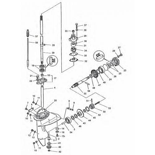 6 & 8 pk (Type B) & E8D - E8DMH Staartstuk Onderdelen