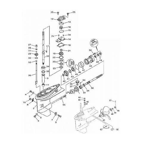 E40X MLHZ XMH XW - 40XMH XE Staartstuk Onderdelen